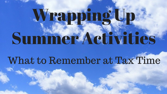 Wrapping Up Summer Activities