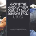 Know if the Knock at Your Door is Really Someone from the IRS